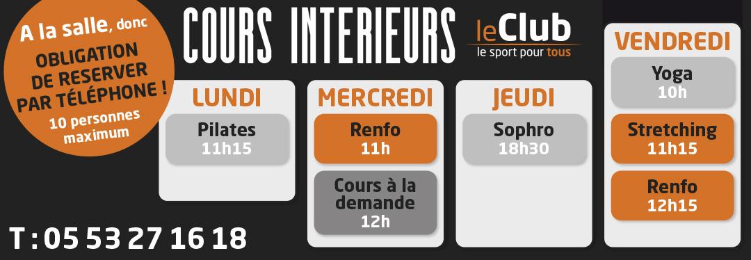 Cours interieurs Le Club Le Sport